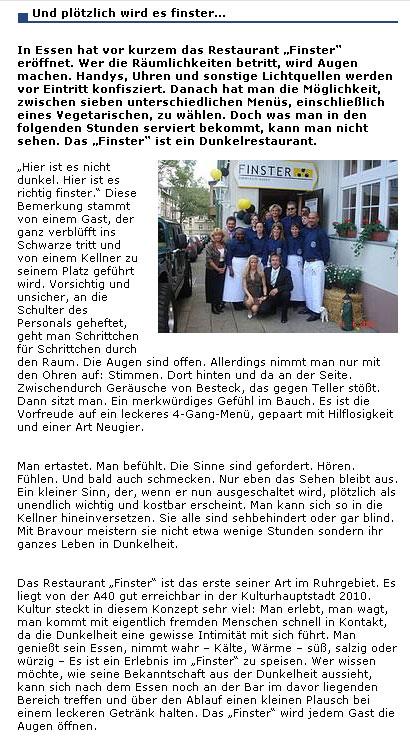 Pressebericht www.therapie-online.de