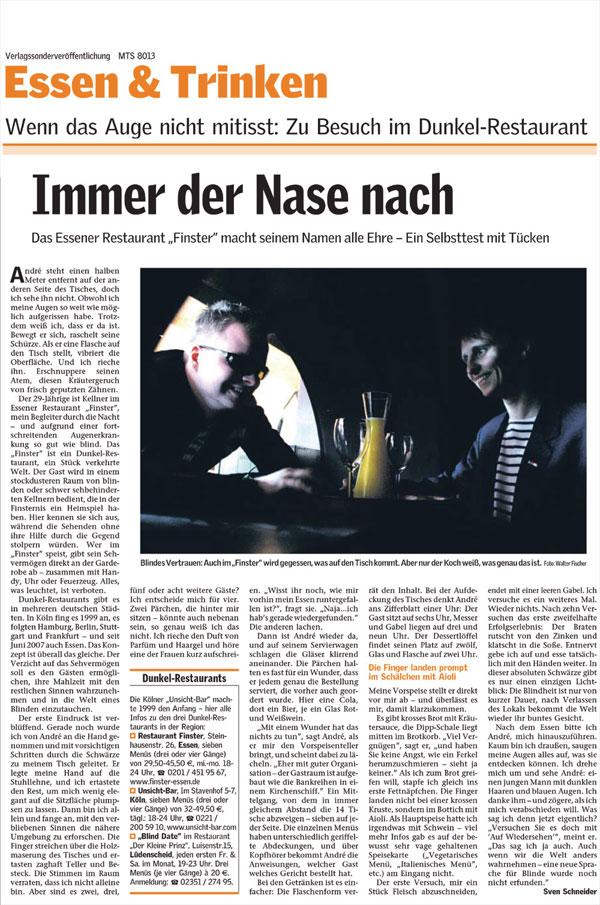 Bericht Essen & Trinken
